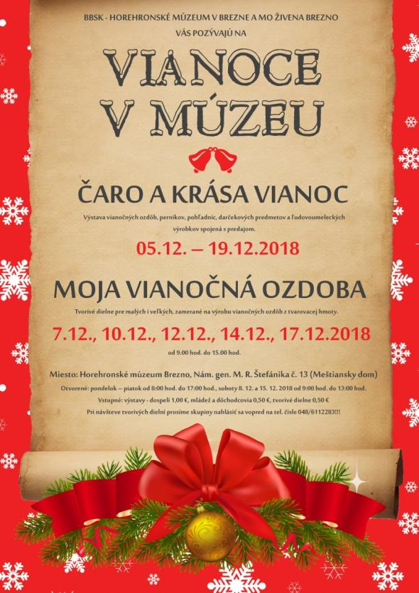 Horehronské múzeum v Brezne. Vianoce v múzeu 69e5a655610